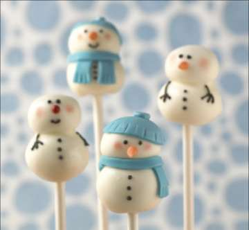 Christmas Cake Pops.Christmas Snowman Cake Pops