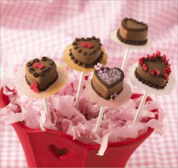 Valentine Chocolate Cake Pops
