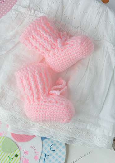 Pretty in Pink Booties