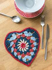 Granny Square Table Mat