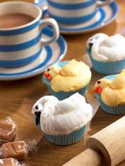 Fluffy Duck Cupcakes