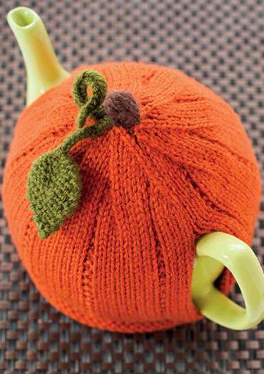 Pumpkin Tea Cosy To Knit