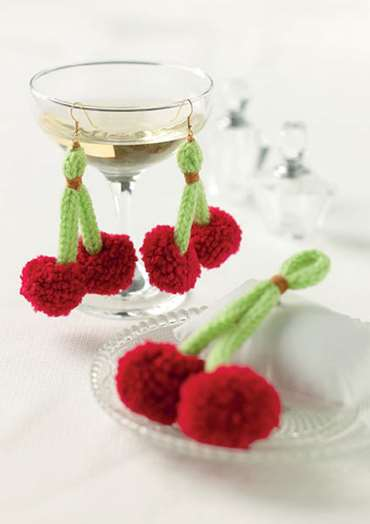 Cherry Brooch and Earrings