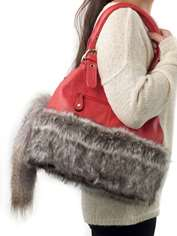 Fur-trimmed Bag