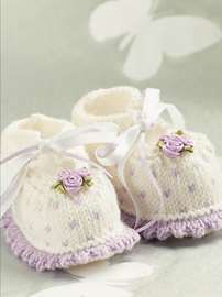 Lavender Rose Bootees