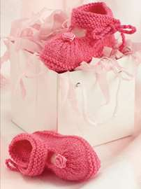 Pretty in Pink Bootees