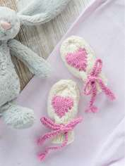 Heart Baby Mitts