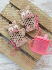 Owl Baby Mitts