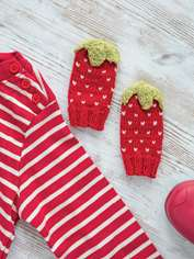 Strawberry Baby Mitts