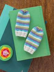 Stripes Baby Mitts