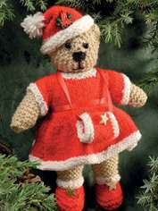 Holly Christmas Bear