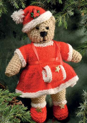 Holly Christmas Bear To Knit