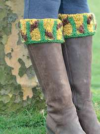 Art Deco Autumn Boot Cuffs