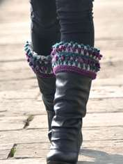 Blueberry Boucle Boot Cuffs