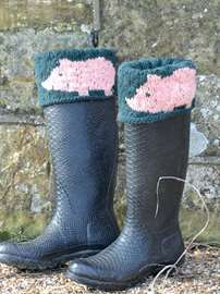 Pig in the Grass Boot Cuffs