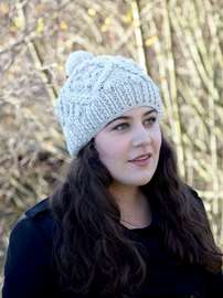 Cable-knit Bobble Hat