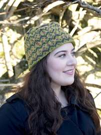Green Patterned Cap