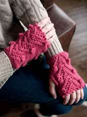 Bobble Tree Wrist Warmers