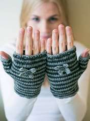Chic Stripes Wrist Warmers