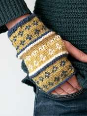 Dainty Fair Isle Wrist Warmers