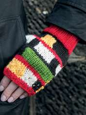 Mondrian Wrist Warmers to Knit