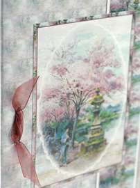 Oriental Cherry Tree Card