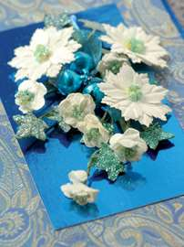 White Poinsettias Card