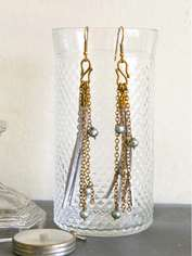 Cord and Chain Earrings