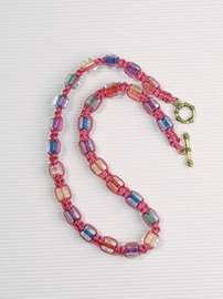 Pink Satin Necklace