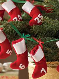 Advent Stockings Bunting