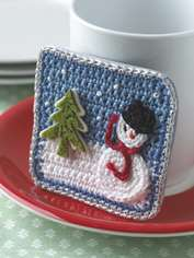Snowy Fridge Magnet