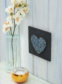 Forget-me-not Heart Mosaic