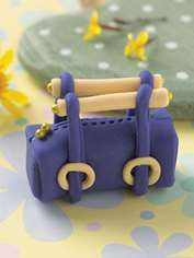 Purple Square Bag