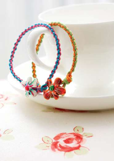 Braided Flower Bracelet