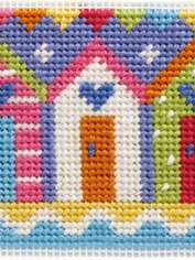 Beach Huts Needlepoint