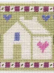 Folk House Needlepoint