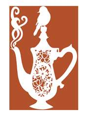 Coffee Pot Papercut