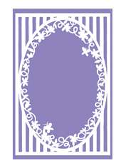 Floral Picture Frame Papercut