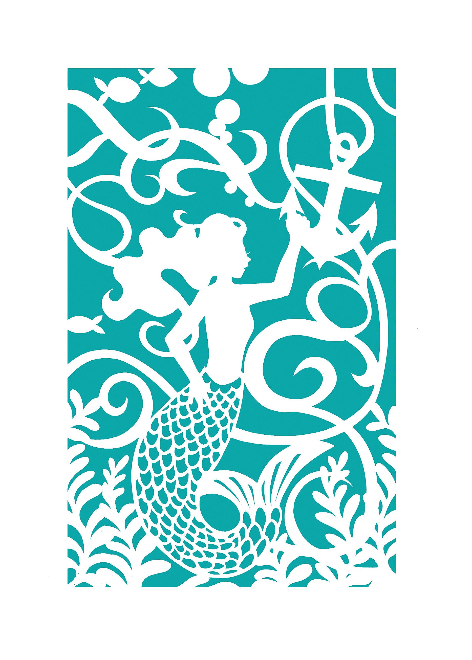 Mermaid Papercut