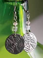 Crystal and Pewter Earrings