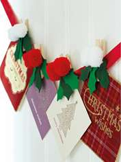 Christmas Pompom Card Pegs