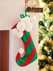 Elf Christmas Stocking Pompoms