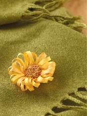 Silk Ribbon Sunflower