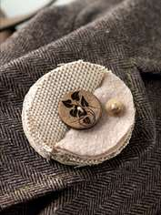 Folded Fabric Brooch