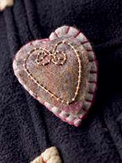 Wire Heart Brooch