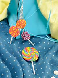 Rainbow Lolly Brooch